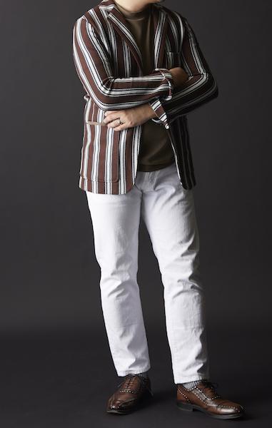 50代ファッションは我儘でいい。ちょっと派手だがこんなコーディネートもありだ。